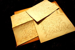 The pen is mightier than the sword (Biscuits1960 (DaveG)) Tags: handwriting text danish old 1865 letters