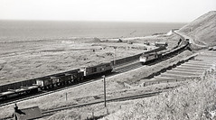 5800 & 5257 meet at Parton (delticfan) Tags: 5800 5257 d5800 d5257 parton cumbriancoast sulzertype2 freight lowca brushtype2
