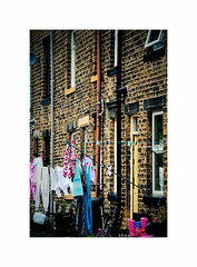 Blow dry ! (CJS*64) Tags: westyorshire hebdenbridge cjs64 craigsunter cjs nikon nikkorlens nikkor nikond7000 dslr d7000 18mm105mmlens 18105mmlens door house frontdoor terraced terracedhouse washing