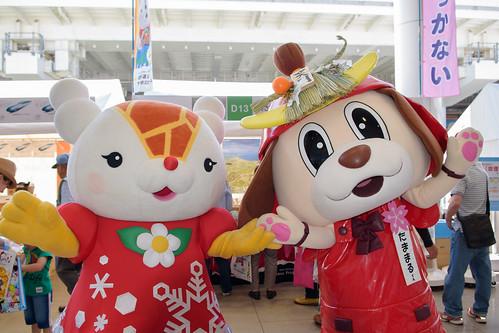 Yukkirin(Asahikawa City, Hokkaido Pref.) & Tamamaru-Kun(Tamaki Town, Mie Pref.)