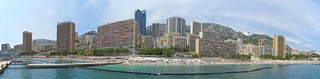 Panorama - Monaco from Larvotto plage