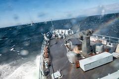 ENS WAMBOLA IN A ROUGH SEA (NATO HQ MARCOM) Tags: marcom sweddishnavy nato snmcmg1 standingnatominecountermeasuresgroupone alliedmaritimecommand