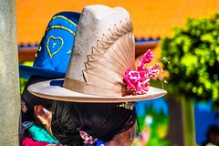 The traditional hats in Peru change in each region.
