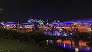 Landscaped view of Tomorrowland