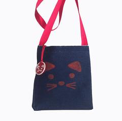 bolsito gatita (Mamipaula y Pipocass Handmade) Tags: catdressforbabies pipocasshandmade petit pipocass denim cat dress vestido gatita vaquero pipocasscom
