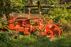 Done For (Back Road Photography (Kevin W. Jerrell)) Tags: farmequipment abandoned dilapidated rusty backroadphotography yardart countrylife flowerbeds worn