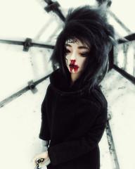 Wait (baimolong) Tags: bjd bjddoll wothdoll withdollnei blood gore sword doll