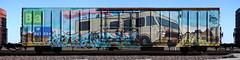 Heisenberg (quiet-silence) Tags: graffiti graff freight fr8 train railroad railcar art heisenberg arek ba nsf boxcar miniridge wholecar sp southernpacific sp691694