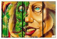 Reptillary Study (All Seeing) Tags: tbox ttx hillaryclinton reptilian caricature politics political satire comedy portrait aerosol art graffiti graff trump crooked satirical