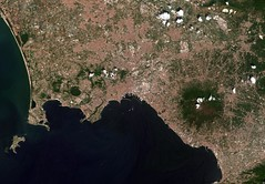Naples relayed via laser (europeanspaceagency) Tags: naples earthobservation sentinel2b copernicus satelliteimage italy bayofnaples laser data transmission