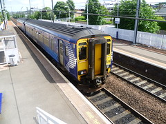 ScotRail Class 156 dmu leaves Slateford while working local stopping service between Glasgow Central and Edinburgh Waverley via Shotts. (calderwoodroy) Tags: 156436 caledonianrailway scotrail dieselmultipleunit class156dmu dmu railwaystation station slateford scotland edinburgh