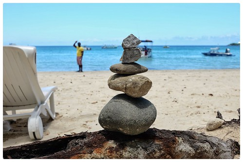 "Jamaican Beach Cairn by EWH (Negril) • <a style=""font-size:0.8em;"" href=""http://www.flickr.com/photos/150185675@N05/34507245430/"" target=""_blank"">View on Flickr</a>"