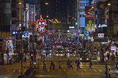 Mong Kok, Hong Kong (mikemikecat) Tags: 同昌押 argylestreet 旺角 亞皆老街 mongkok hongkong 香港 sony a7r twilight nightscape nightview night 夜景 mikemikecat nostalgia vintage house stacked structures people street scenery snapshot sonya7r 建築 建築物 nightscapes neon neonlights 路標