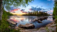 Bright summer night just before sunrise. (M.T.L Photography) Tags: mtlphotography mikkoleinonencom riverkiiminkijoki sunrise morning nikon1424 nikond810 light bright brightsummernight river water trees