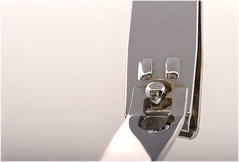 Macro Mondays – Pareidolia (Kev Gregory (General)) Tags: macromondays pareidolia nail clipper metal hinge face silver metallic colour color kev gregory canon 7d macro mondays 100 100mm f28 usm ef challenge theme monday