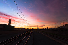 May 29 (Ederson Gomes) Tags: brasil brazil rail metrópole sp tamanduatei sunset train life city urban cidade skyline station railroad trem metropolitano canon1022mm canon canont2i crimson carmesin grandeangular