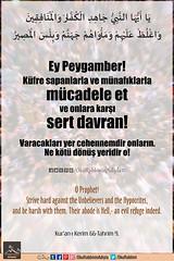 Kerim Kur'an 66-9. (Oku Rabbinin Adiyla) Tags: allah kuran islam ayet ayetler ayetullah hadis hadisler sure peygamber jesus muhammed church bible torah