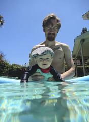 Ash Day 181 (evaxebra) Tags: ash baby swim cap swimming pool summer ryan slowo irish newsboy