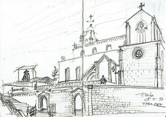Porto, sous l'oeil de Don Sandeman (Croctoo) Tags: croctoo croquis croctoofr crayon portugal porto ville