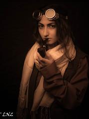 Steampunk (prefectusmaximus) Tags: steampunk armenia armenian girl female woman model beauty beautiful worldportrait goggles pipe artist painter photoshoot photosession photostudio