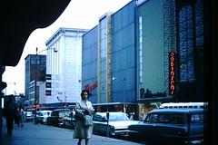 Found Photo - Adams Street - Peoria, Illinois (Mark 2400) Tags: found photo peoria illinois adams street bergners carson pirie scott carsons 1960