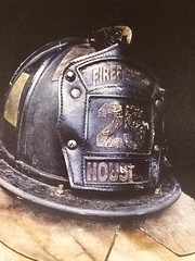 Houston Firefighter Helmet postcard (1) (lostinmaroc) Tags: fire service public safety firefighting firefighter helmet postcard postcrossing