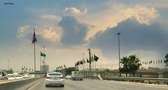 "The visit of the orange man ("" Don Quixote "") Tags: road flag trumpvisit saudi ksa riyadh"