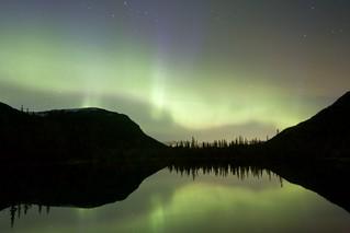 Aurora contours sky