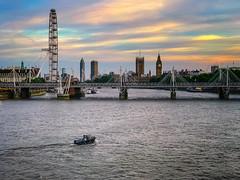 Waterloo Bridge Sunset (Jomak1) Tags: 2017 london londoneye may river thames waterloo bridge jomak1