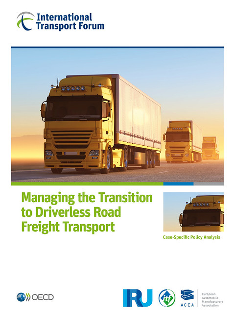 Managing the Transition to Driverless Road Freight Transport - report cover