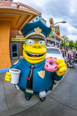 Chief Wiggum (matman73072) Tags: universalstudios hollywood losangales california themepark moviestudio chiefwiggum simpsons donut doughnut cop officer coffee