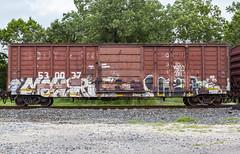 (o texano) Tags: houston texas graffiti trains freights bench benching vizie dts defthreats adikts a2m d30