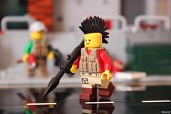 Pew pew... A little stronger (Devid VII) Tags: lego devidvii military crew war pewpew moc diorama scene detail post apoc