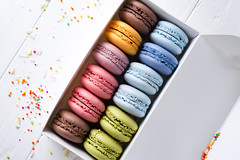 multicolored french macaroons (lyule4ik) Tags: cake french food biscuit macaroons box sweet snack delicious cookie dessert france tasty traditional color bakery gourmet flavor chocolate background pink confectionery brown cuisine row coffee assorted green yellow assortment colorful confection nobody orange pastry candy sugar bake calories closeup cream delicate gastronomy horizontal lemon pistachio sandwich specialty strawberry