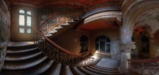 halfway up stairs