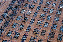 """Ode to Geometry"" (Photography by Sharon Farrell) Tags: 7thavenue westvillage westvillagenewyork newyork newyorknewyork steps stairs stairporn abstract abstractphotography lookingup geometry fireescape fireescapes parallelogram rhombus quadrilateral rhomboid square rectangle triangle"