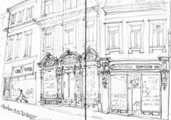 Porto, à coté du marché couvert (Croctoo) Tags: croctoo croquis croctoofr crayon portugal porto ville
