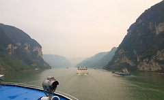 On a boat (Whistler Whatever) Tags: boat ship cruise vacation china yangtze river yellow mountains yichang threegorges deck bow sailing