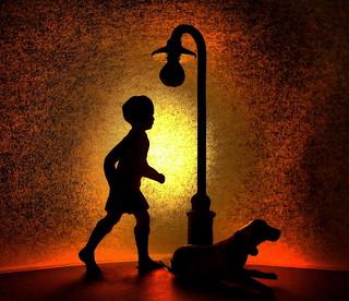 Under the street light SILHOUETTE.....Macro Mondays