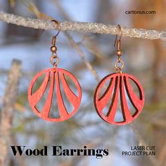 Modern earrings (cartonus) Tags: earrings lasercut project plan vector model mandarin snowflakes woman jewelry wooden artdeco modern filigree plywood hardwood