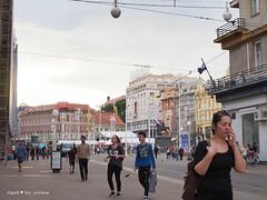 Trg bana Jelacica square, from Petrinjska street