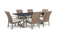 Saylor 7 Piece Dining Set Blue Oak Outdoor (Blue Oak Outdoor) Tags: blueoak blueoakoutdoor outdoorfurniture patiofurniture gardenfurniture sunroomfurniture saylor