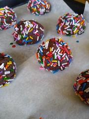 Fudge Cookie Bites (yummysmellsca) Tags: yummy yum vegetarian sweet cooking baking glutenfree vegan chocolate cocoa rainbow sprinkles fudgecookiebites