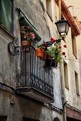 11 (JC Arranz) Tags: españa flores rojo atardecer tarragona edificio farola fachada balcón laselvadelcamp cascourbano