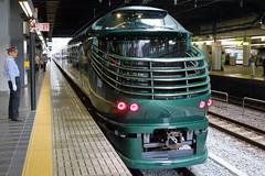 Twilight Express Mizukaze (Michael@H) Tags: twilightexpressmizukaze deluxe luxury cruising hybrid dmu sleepingcar excursiontrain kyotostation kawasakiheavyindustries jrwest japan