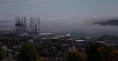 The Haar from Dundee Law (mono) (D-W-J-S) Tags: dundee sea freg fog haar law