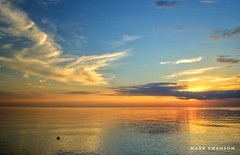 Colorful Summer Skies (mswan777) Tags: sunset evening glow cloud sky water waves beach seascape landscape outdoor nature lake michigan expanse summer nikon d5100 stevensville sigma 1020mm peaceful quiet reflection light
