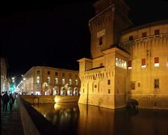 FERRARA. IL CASTELLO ESTENSE. (FRANCO600D) Tags: ferrara castello castelloestense notturno luci fossato centrostorico