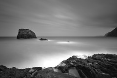 Silence (Rico the noob) Tags: dof landscape nature d500 outdoor madeira sea blackandwhite longexposure bw 2017 ocean monochrome multipleexposure water published travel sky clouds 1120mm cliff 1120mmf28