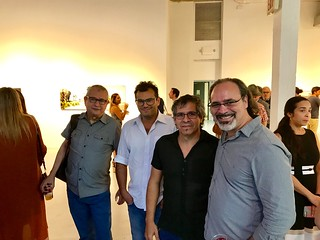 Artists and Curators: Gady Alroy, Dennys Matos, Andre Poli and Jose Antonio Navarrete at the cce opening!